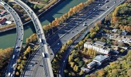 Maisons-Alfort - Saint-Maurice : échangeur entre l'autoroute A4 et l'A86 © ph. Guignard/air-images.net