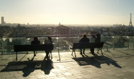 Panoramic view of Paris seen from the roof terrace of Printemps Haussmann © LAA