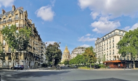 Chapelle des Invalides depuis l'avenue de Lowendal © Apur - François Mohrt