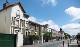 Rue pavillonnaire à Bondy © Apur