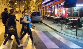 Une équipe de bénévoles de la Nuit de la Solidarité 2019, le soir de l'enquête © Guillaume Bontemps/Ville de Paris
