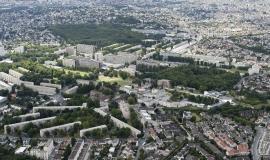 Vue aérienne du territoire de Grand Paris Grand Est © ph.guignard@air-images.net