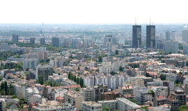 View from the TDF tower Ramainville Site looking towards Bagnolet and Des Lilas © Apur - D. Boureau