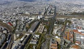 Les portes du 18e, vue aérienne depuis la porte d'Aubervilliers © ph.guignard@air-images.net