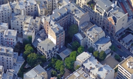 Aerial view of housing in Paris, 9th district © ph.guignard@air-images.net