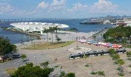 View of the redeveloped Praca Maua in the centre of Rio de Janeiro © Apur