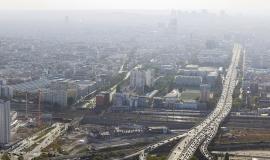 Pollution sur Paris et banlieue © ph.guignard@air-images.net