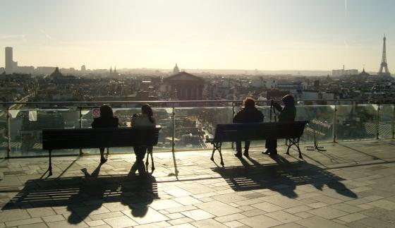 Panorama de Paris vu depuis le toit terrasse du Printemps Haussmann © LAA