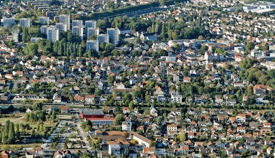 Sevran : le secteur du canal de l'Ourcq et du sud de la ville © Ph.guignard@air-images.net