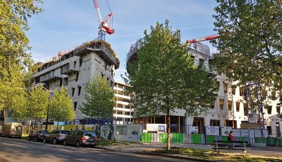 The Paris 3 Sorbonne-Nouvelle University building site in April 2018, avenue Saint-Mandé, Paris 12 © JC Bonijol