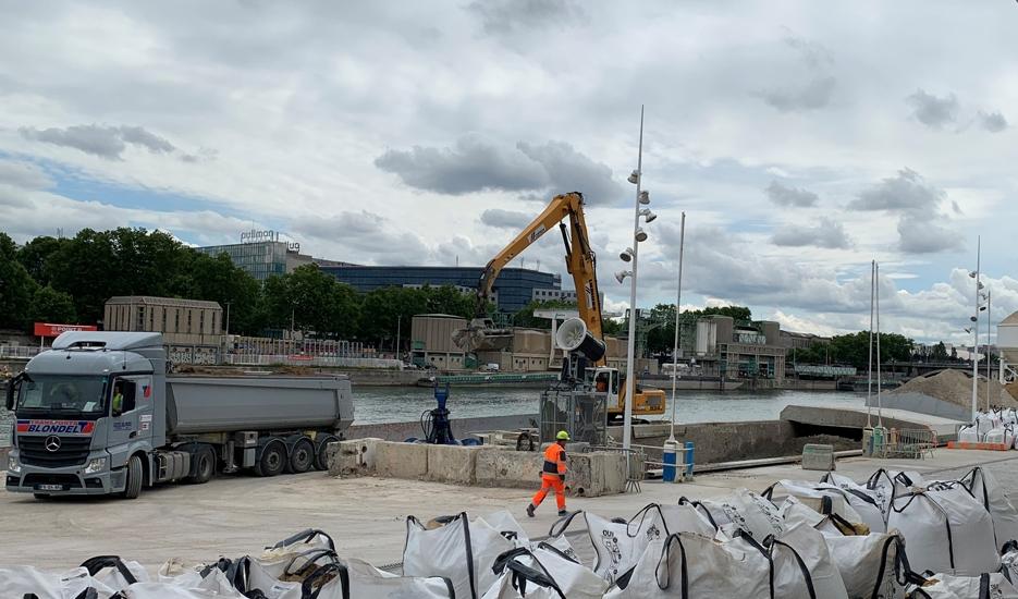 Cemex Platform, Port de Tolbiac, Paris 13 © Apur