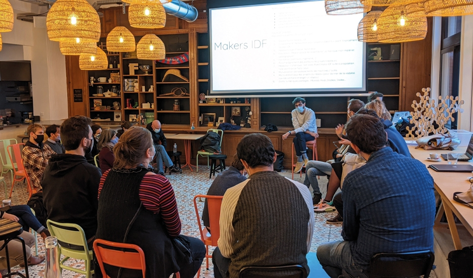 Réunion fablab à La Tréso, une coopérative inaugurée en septembre2020 à Malakoff © La Tréso