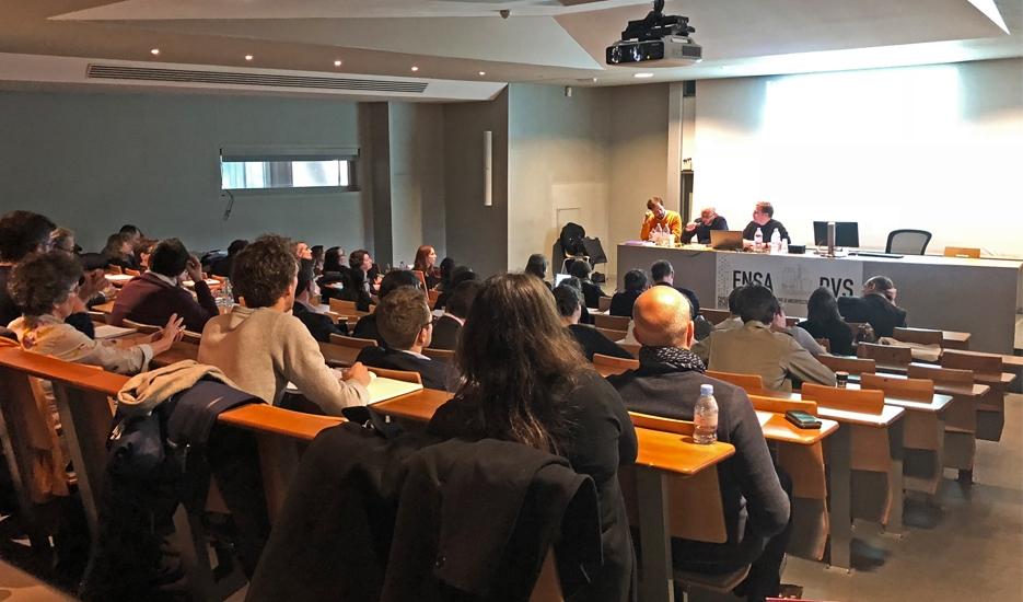 Restitution des travaux de l'Apur 2017 à l'École d'architecture Paris Val de Seine le 29 mars 2018 © Apur
