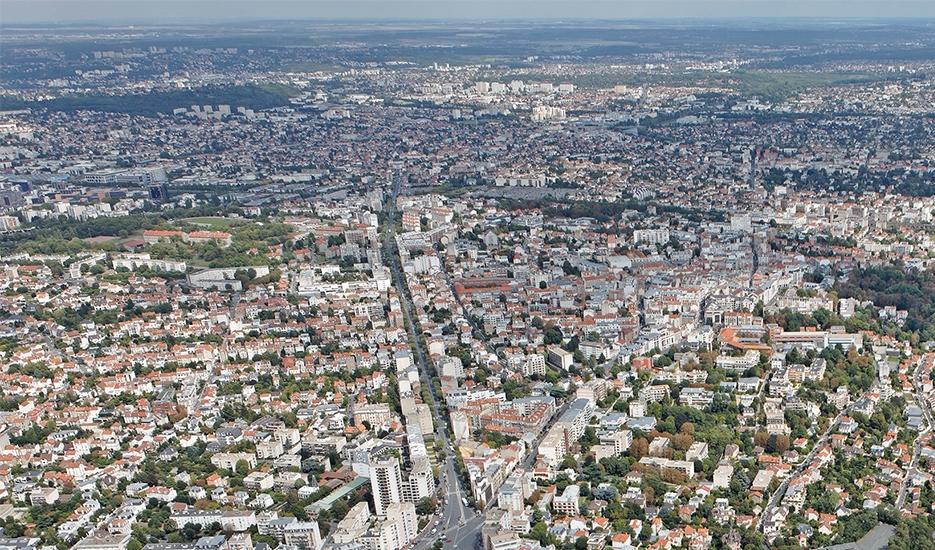 Vue aérienne de la ville de Nogent-sur-Marne © ph.guignard/air-images.net