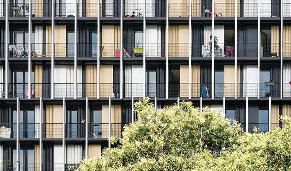 """""""Le Flandre"""", apartment block, Paris 19th district © Christophe Caudroy"""