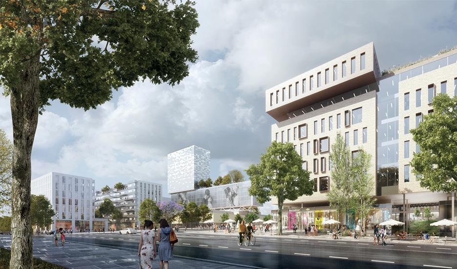 Projet du quartier de gare des Ardoines, Vitry-sur-Seine © Société du Grand Paris – Valode et Pistre - Gaëtan Le Penhuel Architectes