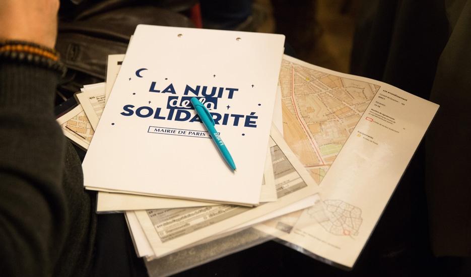Nuit de la Solidarité 2018 à Paris © Mairie de Paris - Joséphine Brueder