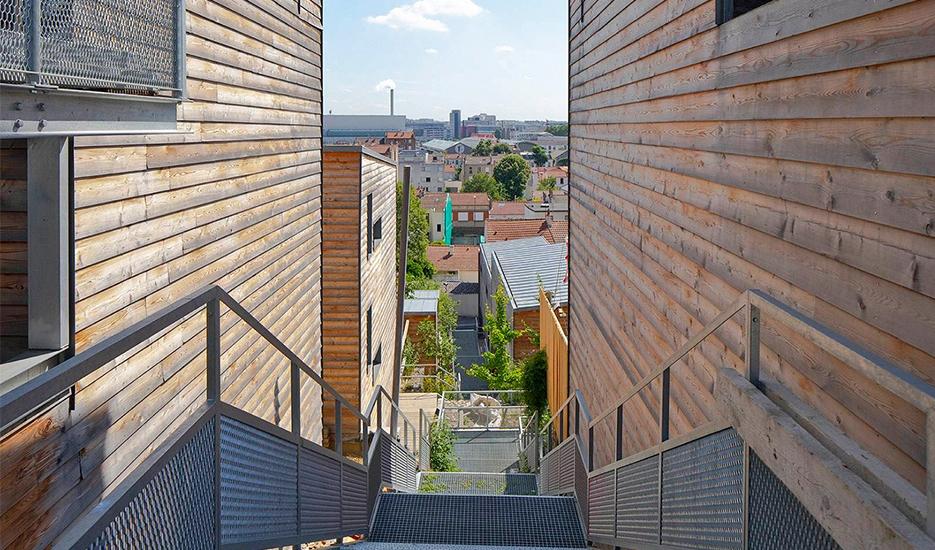 Tissu urbain rue Antoine Thomas – Ivry-sur-Seine © Apur - Arnauld Duboys Fresney