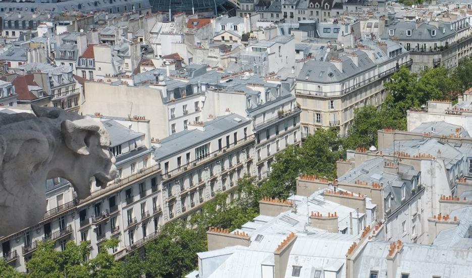 View of Boulevard Sebastopol seen from the Tour Saint Jacques - Paris © Apur – Julien Bigorgne