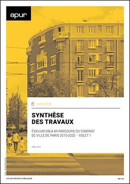 Couverture – Synthèse des travaux : évaluation à mi-parcours du contrat de ville de Paris 2015-2020 / Volet 1 © Apur